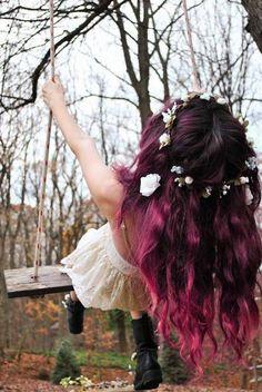 Bohemian beautiful pink ombré