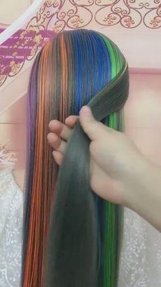 Hairdo For Long Hair, Long Hair Video, Easy Hairstyles For Long Hair, Creative Hairstyles, Front Hair Styles, Medium Hair Styles, Hair Style Vedio, Kim Hair, Bridal Hair Tutorial