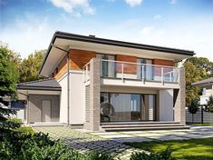 Zdjęcie projektu Karo BSE1115 Bungalow House Design, Architect House, Home Fashion, House Plans, Exterior, How To Plan, Mansions, House Styles, Outdoor Decor