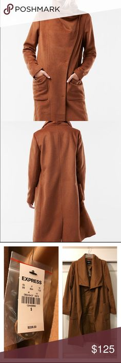 Express coat Wool blend cocoon coat Express Jackets & Coats