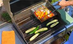 Grill Skill: How to Grill Veggies (Loved how he grilled the corn with the husk, never seen it done that way before)