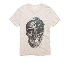 87402e67 Alexander McQueen - White Ivy Raven Skull T-shirt for Men - Lyst
