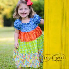 Baby Sizes - Belle Peasant Dress Pattern - Long Sleeves and Short - 0 to 24 months by Tie Dye Diva Patterns