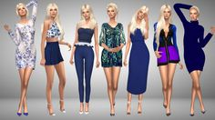 Blue Over You 1. Hair [xx] - @missparaply  Dress... - Immortalsims