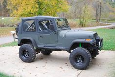 Black Lifted Soft Top Jeep YJ