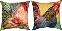 Beautyanhomedecor - Boho Rooster Indoor Outdoor Decorative Pillow, $31.50 (http://www.beautyanhomedecor.org/boho-rooster-indoor-outdoor-decorative-pillow/)