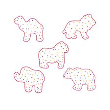Frosted Animal Cracker Cookie Cutter Set of 5 - KaleidaCuts Heart Cookie Cutter, Heart Cookies, Cut Out Cookies, Cute Cookies, Cookie Dough, Candy Christmas Decorations, Christmas Candy, Frosted Animal Crackers, Cracker Cookies
