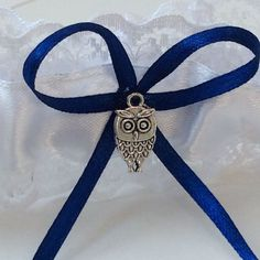 Wedding Hen Prom Garter Little Owl Something Blue White Lace Made Uk   | eBay