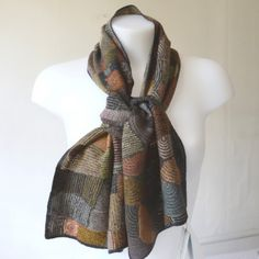 Sophie Digard creations - large and warm shawl - hand crocheted - merino wool