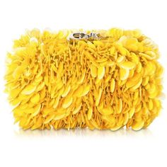 Corto Moltedo Handbags Susan C Star Yellow Explosion Nappa Leather... ($1,665) ❤ liked on Polyvore featuring bags, handbags, clutches, nappa leather, chain handle purse, chain handle handbags, chain strap shoulder bag, handbags purses and chain strap purse