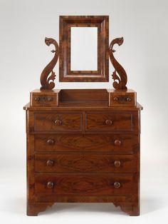 c1850, Empire Restuaration, Thomas Day NC 1801-61, mahogany, marble, 2/y pine,t popular VMFA