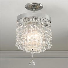 Crystals In Flight Pendant or Ceiling Light | $439
