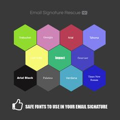 What fonts are safe to use in your email signature?
