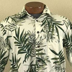c6d20fd00 Kealohas Reyn Spooner Small Hawaiian Shirt Button Down Palm Leave Cotton