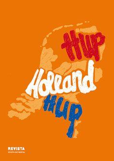 Oranje poster WK voetbal Hup Holland Hup, www.revista-ontwerp.nl