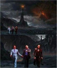 One does not simply walk into Mordor. Three, on the other hand...