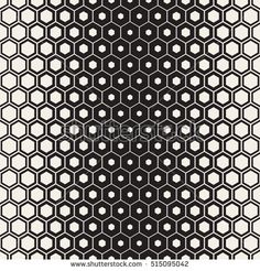 Vector Seamless Halftone HoneyComb Gradient Pattern.Abstract Geometric Background Design