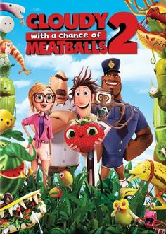 CLOUDY WITH A CHANCE OF MEATBALLS 2 (2013): Flint Lockwood now works at The Live Corp Company for his idol Chester V. But he's forced to leave his post when he learns that his most infamous machine is still operational and is churning out menacing food-animal hybrids.