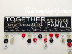 Together We Make One Beautiful Family Birthday Board Birthday