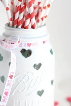Homemade Valentines Day Gifts in a Jar - Heart Mason Jar - DIY Valentines Day Ideas