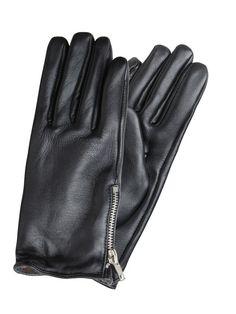 LÆDER HANDSKER, Black, large