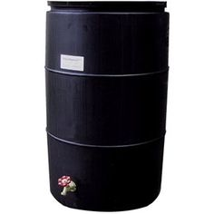 How to make your own rain barrel - follow the link from this page and it will give you a nice PDF instruction page...