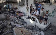 5 family members killed in this bombing of the Ghannam house in Gaza.