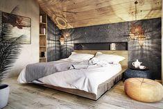 Chambre de style de style Moderne par razoo-architekci