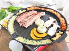 Barbecue Grill Pan Korean BBQ Stovetop Table Top Indoor Barbeque ...
