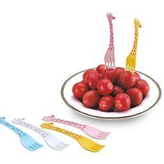 Wholesale Giraffe Shape Tableware Festival Party 12PCS Fruit Fork Set In Colormix | TrendsGal.com