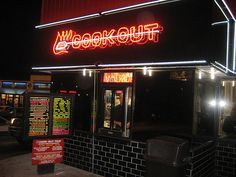 Cook Out Resturants  First Resturant opened in Greensboro,NC