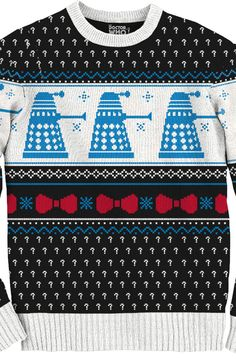 Dalek Christmas Sweater: Doctor Who Mens Sweaters