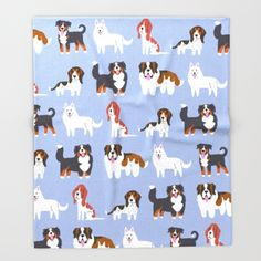 SWISS+DOGS+Throw+Blanket+by+DoggieDrawings+-+$49.00