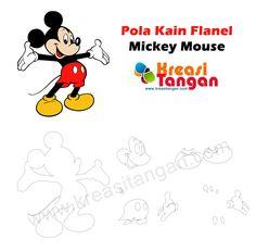 Pola Kain Flanel Mickey Mouse