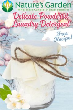 Free Homemade Natural Laundry Detergent by Natures Garden.