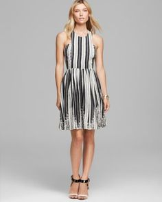 Tracy Reese Dress - Sleeveless  with stripes and pattern- Bloomingdale's