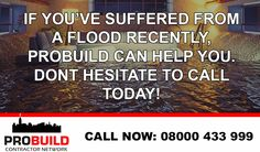 Has the recent flash floods that have hit the UK had any impact on you or your property? Probuild are here to help. We offer some of the best restoration work on the insurance market, check out what services we can offer you at www.probuild.co.uk