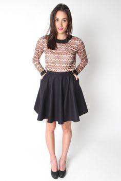 DATE NIGHT SKIRT   Amber Whitecliffe Winter Coat, Skater Skirt, Amber, Candy, Night, Skirts, Vintage, Collection, Style