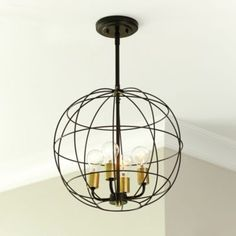 Tours 4-Light Pendant by Ballard Designs - think these are too big to go in a hallway? We're envisioning three...