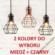 LAMPA RETRO LOFT INDUSTRIAL MIEDŹ MIEDZIANA CZARNA