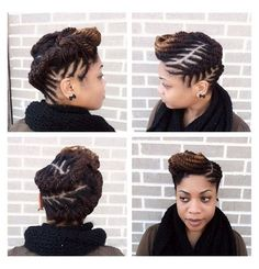 Twisted Updo Tutorial - Hair Chick Yes. Natural Hair Updo, Natural Hair Care, Natural Hair Styles, African Hairstyles, Braided Hairstyles, Cool Hairstyles, Dreadlock Hairstyles, Black Hairstyles, Latest Hairstyles