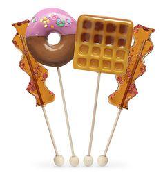 Breakfast Lollipop Set: Your favorite breakfast food served as lollipops!