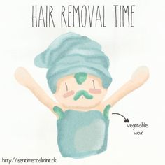 Hair Removal Time - SentimentalMint  #hairremoval #hair #removal #funny #draw #ilustration #chibi #lol #sentimentalmint