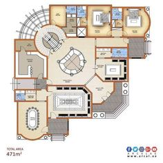 Breathtaking Interior paint colors blue green,Modern interior design paint colors and Interior painting jobs. House Layout Plans, Dream House Plans, House Layouts, House Floor Plans, Home Design Plans, Plan Design, Stairs Painted White, Modern House Design, Villa Design