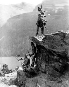 The Eagles, Piegan, Blackfoot, 1913. Glacier National Park.  Photo by Roland Reed