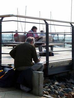 Malreise an die Ostsee - Aquarellieren im Hafen von Rerik (c) Frank Koebsch (2) #Ostsee #Rerik #Aquarell #Malreise #Aquarellkurs