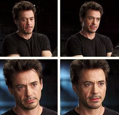 "His EYES.  (Robert Downey Jr., ""Iron Man"" screen test)"