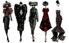 Alexander McQueen. Fashion sketches.