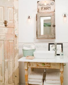 rustic bathroom vanities old dressers powder room baby girl room ideas pink … - Modern Rustic Bathroom Vanities, Rustic Bathrooms, Bathroom Faucets, Bathroom Interior, Small Bathroom, Master Bathroom, Baby Bathroom, Bathroom Ideas, Remodel Bathroom