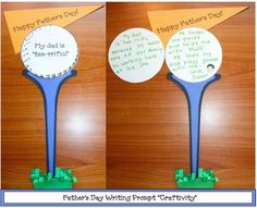 """Tee-rrific"" Father's Day Writing Prompt ""Craftivity.""-pinned by @PediaStaff – Please Visit  ht.ly/63sNt for all our pediatric therapy pins"